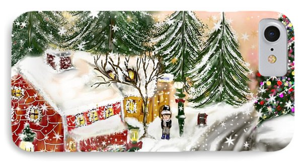 IPhone Case featuring the painting A Magical Frost by Lori  Lovetere