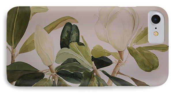 A Magnolia Duet IPhone Case by Nancy Kane Chapman