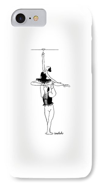 A Male Ballet Dancer Lifts A Ballerina IPhone Case by Liam Walsh