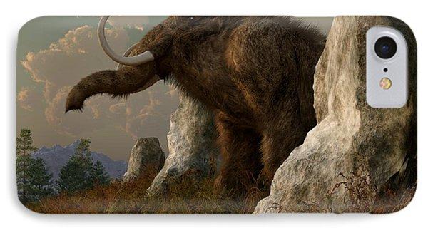 A Mammoth On Monument Hill Phone Case by Daniel Eskridge