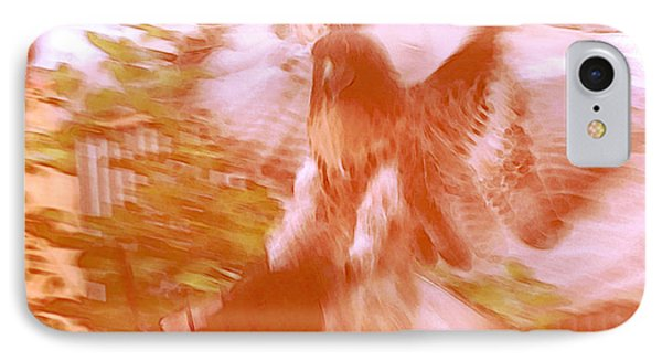 A Man And A Hawk I IPhone Case by Carolina Liechtenstein