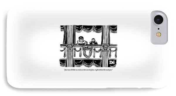 A Man And A Woman Are Sitting In The Balcony IPhone Case