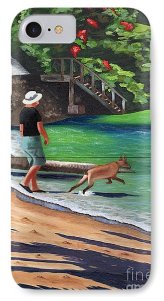 IPhone Case featuring the painting A Man And His Dog by Laura Forde