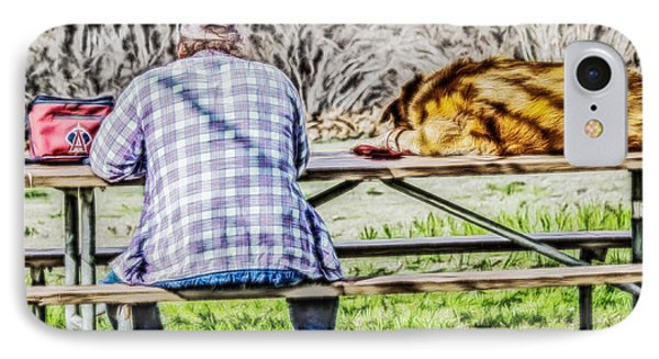 A Man And His Dog IPhone Case by Photographic Art by Russel Ray Photos