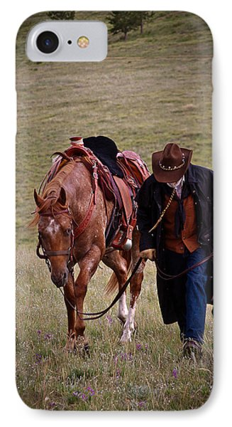 A Man And His Horse IPhone Case by Steven Reed