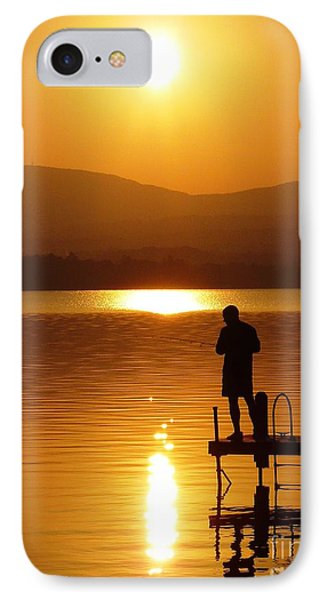 IPhone Case featuring the photograph A Man And His Thoughts  by Mike Ste Marie