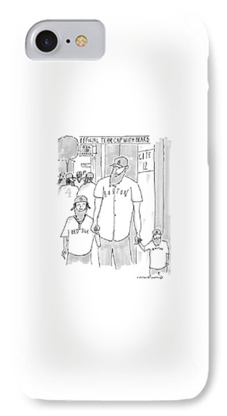 A Man And His Two Sons IPhone Case by Michael Crawford