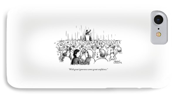 A Man In A Crowd Listening To Someone Speaking IPhone Case