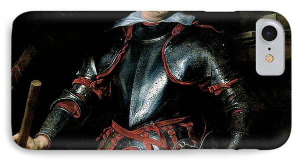 A Man In Armour, C.1621-27 Oil On Canvas IPhone Case by Sir Anthony van Dyck