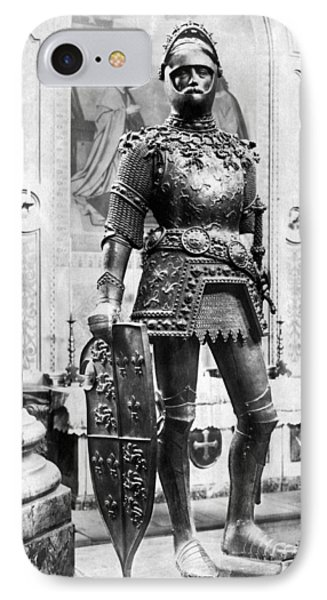 A Man In Knight's Armor IPhone Case by Underwood Archives