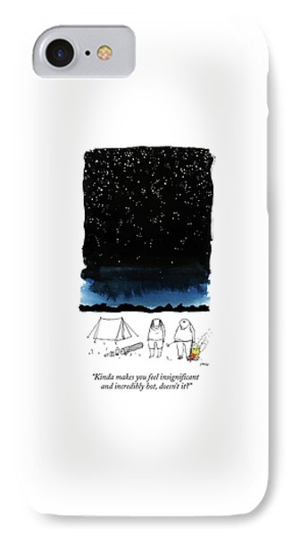 A Man Looks Up At The Night Sky IPhone Case