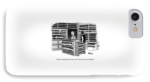 A Man Talking To An Employe At A Wine Store IPhone Case by Kaamran Hafeez