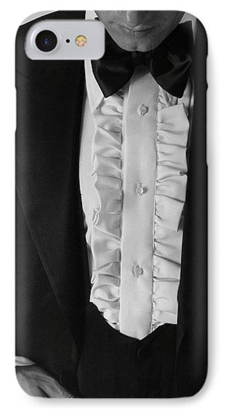 A Man Wearing A Tuxedo IPhone Case by Peter Levy