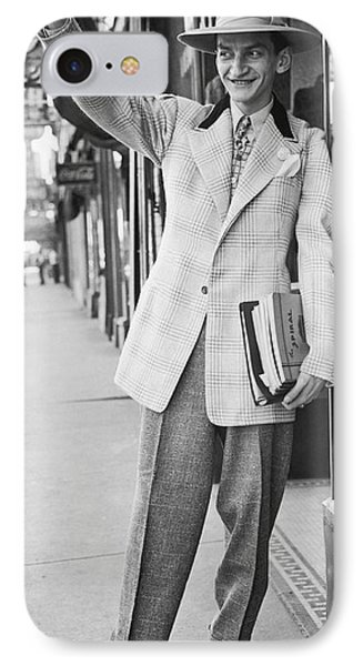 A Man Wearing A Zoot-suit IPhone Case