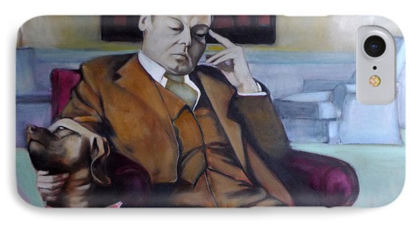 IPhone Case featuring the painting A Man's Best Friend by Irena Mohr