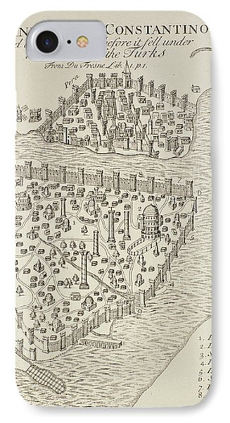 A Map Of Constantinople In 1422 IPhone Case
