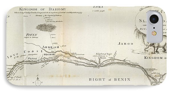 A Map Of The Slave Coast IPhone Case by British Library