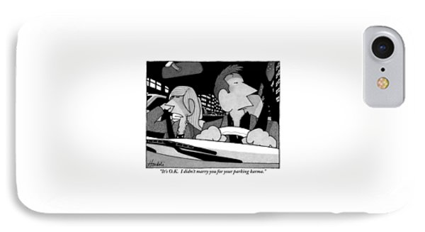 A Married Couple Are Seen In The Front Seats IPhone Case by William Haefeli