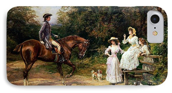 A Meeting By A Stile  Phone Case by Heywood Hardy