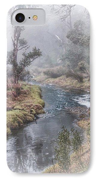 A Misty Morning In Bridgetown IPhone Case by Elaine Teague