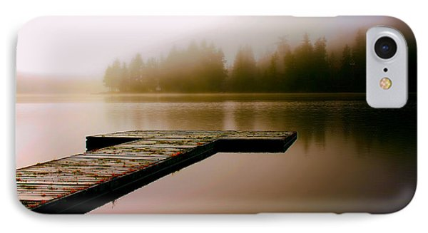 A Misty Morning On The Lake IPhone Case by Peggy Collins