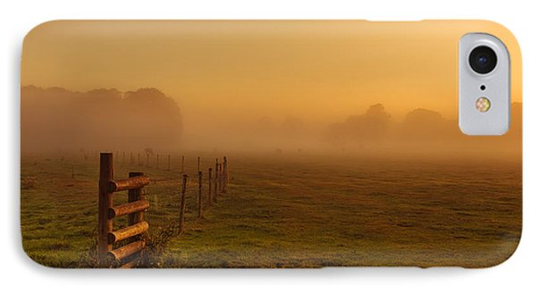 A Misty Sunrise IPhone Case by Chris Fletcher