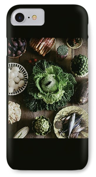 A Mixed Variety Of Food And Ceramic Imitations IPhone Case