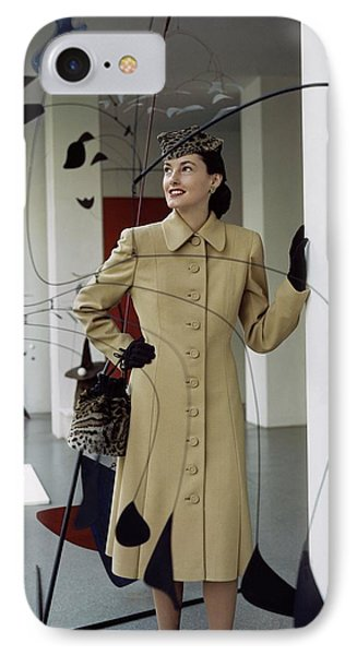 A Model Behind Calder Mobiles At The Museum IPhone Case by John Rawlings