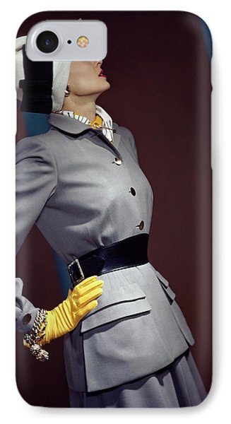 A Model In A Vogue Couturier Suit IPhone Case by Horst P. Horst