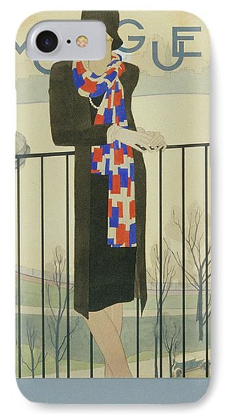 A Model On A Balcony IPhone Case by Pierre Mourgue