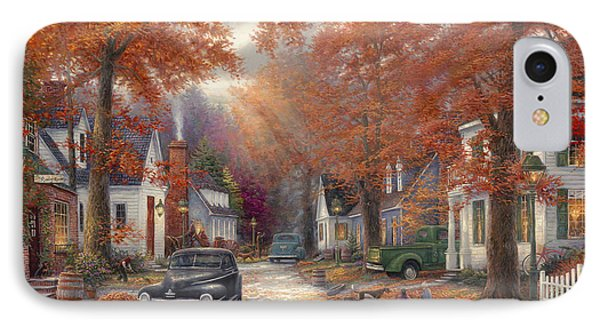 Street iPhone 7 Case - A Moment On Memory Lane by Chuck Pinson