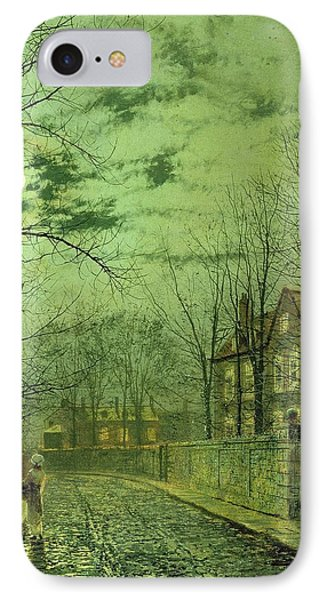 A Moonlit Road IPhone Case by John Atkinson Grimshaw