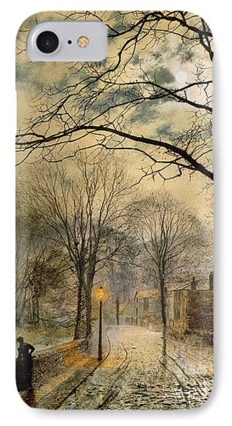 A Moonlit Stroll Bonchurch Isle Of Wight Phone Case by John Atkinson Grimshaw