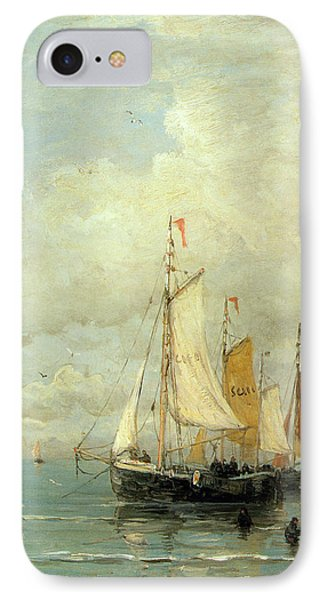 A Moored Fishing Fleet IPhone Case