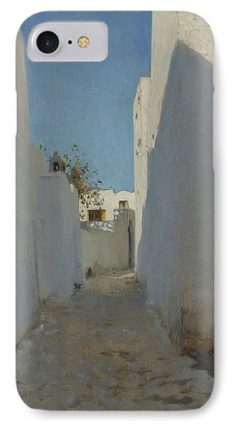 A Moroccan Street Scene, 1879-1880 IPhone Case by John Singer Sargent