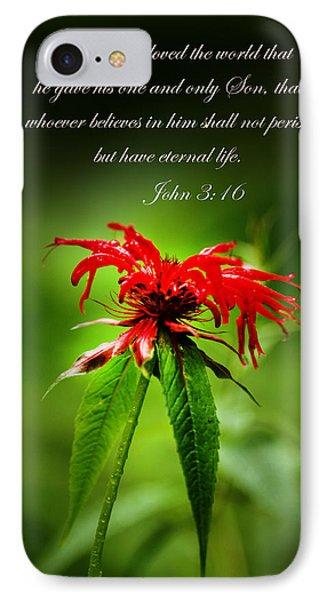 A Mountain Flower  John 3 16 Phone Case by Randall Branham