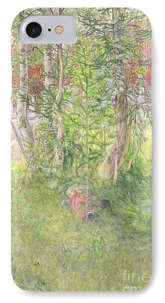 A Nap Outdoors IPhone Case by Carl Larsson