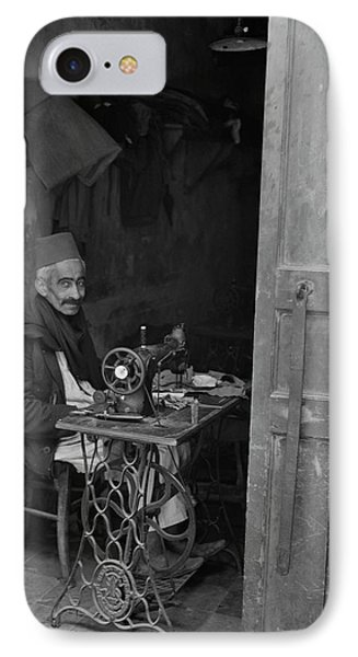 A Native Craftsman At His Sewing IPhone Case by Stocktrek Images