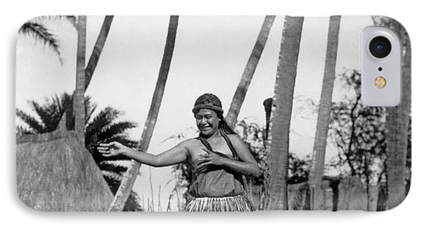 A Native Hawaiian Dancer IPhone Case by Underwood Archives