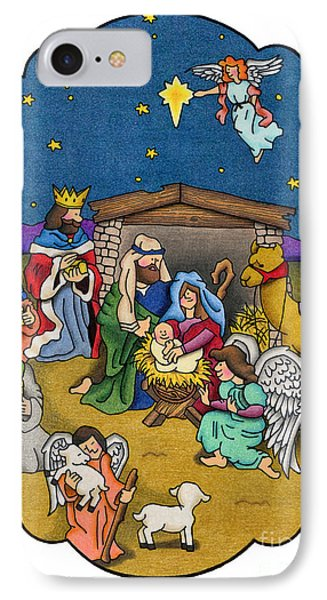 A Nativity Scene Phone Case by Sarah Batalka