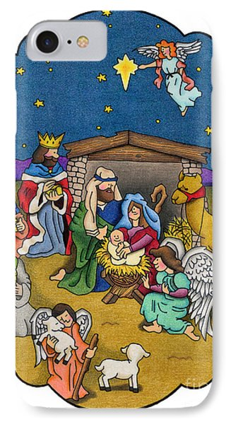 A Nativity Scene IPhone Case by Sarah Batalka