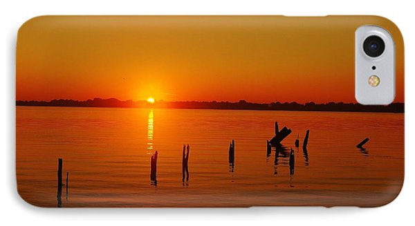 A New Day Dawns... Over Dock Remains IPhone Case by Daniel Thompson