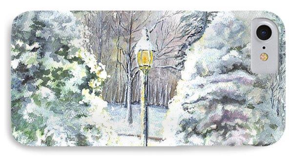 A Warm Winter Greeting IPhone Case by Carol Wisniewski