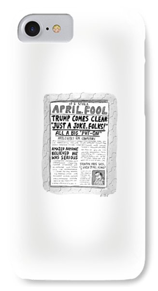 A Newspaper Front Page About Donald Trump's IPhone Case
