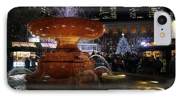 A Night In Bryant Park Phone Case by Nicholas Santasier