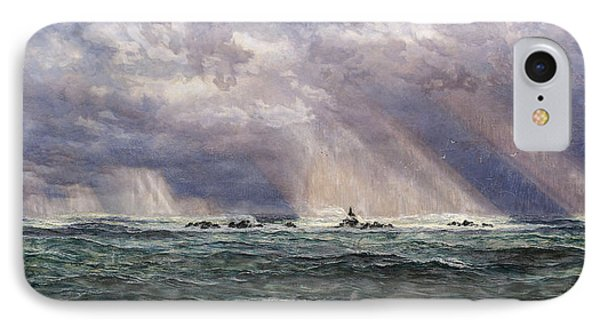 A North-west Gale Off The Longships Lighthouse IPhone Case