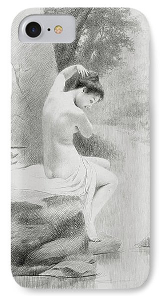 A Nymph IPhone Case by Charles Prosper Sainton
