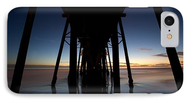 A Ocean Pier At Sunset In California Phone Case by Peter Tellone