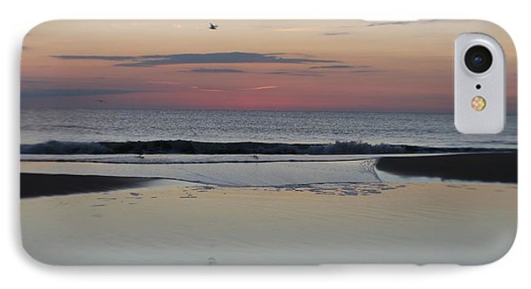 IPhone Case featuring the photograph A One Seagull Sunrise by Robert Banach