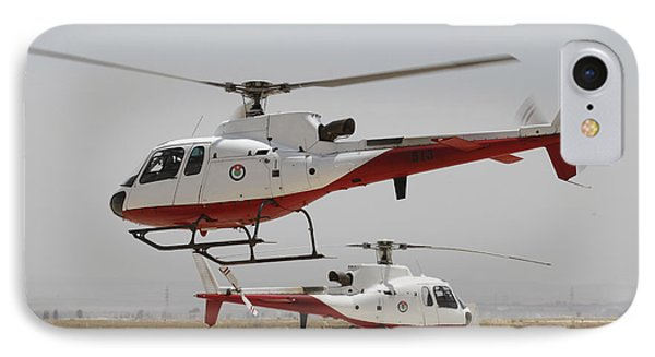 A Pair Of As350 Squirrel Helicopters Phone Case by Ofer Zidon